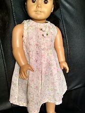 """18"""" Home Made Doll Clothes fits American Girl ~ Pink Florial Summer Dress"""