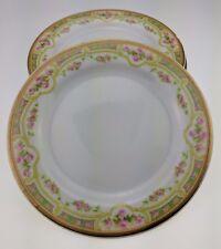 "Lot of 4 Bawo & Dotter Elite Works Limoges Pink Roses 6 1/8"" bread plate BWD379"