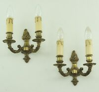 Paar Antik Empire Stil Wandlampen Messing Wandleuchten Led France Vintage alt