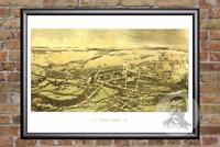 Vintage Quincy, MA Map 1878 - Historic Massachusetts Art - Victorian Industrial