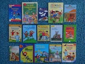 Bücherpaket 15 x Erstleser Erstes Lesen Bücher Lesemaus Leserabe Lesepiraten