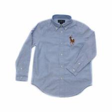 Polo Ralph Lauren Big Pony Long Sleeve Oxford Shirt Cotton Mens Blue L RRP $189