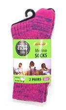 Grisport Ladies Merino Wool Socks 2 pack (1 pink pair, 1 blue pair)