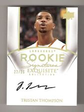 TRISTAN THOMPSON 11/12 exquisite gold auto rookie #76 serial #22/25