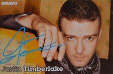 JUSTIN TIMBERLAKE - Autogrammkarte - Autograph Autogramm Sammlung Clippings NEU