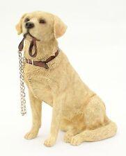 Golden Labrador Dog Ornament Sitting Lead Walkies Dog Studies Range by Leonardo