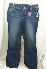 Size 14 AVG NWT Lane Bryant Slim Boot Genius Fit Med Wash Stretch Jeans $79