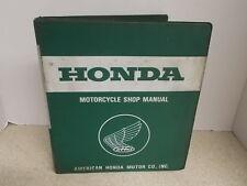 OEM Honda Shop Manual Binder 1979-1983 XL100S 1981-1983 XR100 22 Chapter 6143604