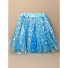 Frozen  princess queen elsa turquoise blue child size tutu with tripple netting