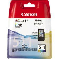 CARTUCCIA Canon cl-511 colore (c/m/y), 9 ml (circa 244 pagine), Nuovo/Scatola Originale
