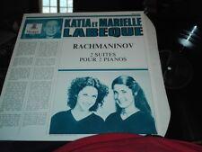 RACHMANINOV: 2 suites for 2 pianos > Katia. & Marielle Labèque / Erato stereo LP