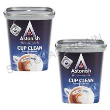 2 x ASTONISH PREMIUM EDITION CUP CLEAN TEA & COFFEE STAIN REMOVER 350g