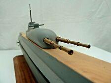 Sous-marin FNFL Surcouf,  maquette bois plein et métal 70cm