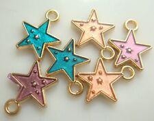 5pcs DIY Lot stars Metal Charm Pendant Necklace Bracelet earring Jewelry 9sss