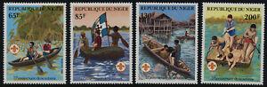Niger 586-9 MNH Scouting Year, Canoe