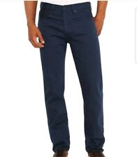 Levis 501 Shrink to Fit Jeans Cobalt Blue Straight Leg Button Fly W 34 L 30