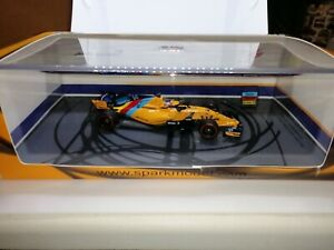 McLaren Renault MCL33 #14 Alonso Abu Dhabi GP 2018 Spark FULL LIVERY