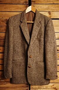 Vintage 1970's Brown St Michael Pure Wool Jacket. Size38