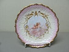 BEAUTIFUL ANTIQUE LIMOGES FRANCE PORCELAIN CABINET PLATE, GILDED w/ CHERUBS #12