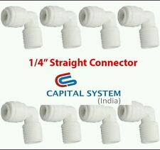 """8 Pcs 1/4"""" thread  Elbow Connectors  For Kent Inline Filter RO/UV Pipe/Tube[031]"""