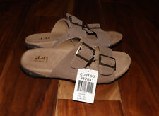 NEW Womens JEEP J-41 Taupe Suede Sandal Two Adjustable Strap Slip On Shoes 6.5