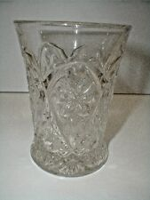 Imperial Clear Pressed Glass Cosmos #474 FOUR SEVENTY FOUR Tumbler