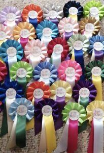 Mini Miniature rosettes HAPPY BIRTHDAY x 10, 20 or 30