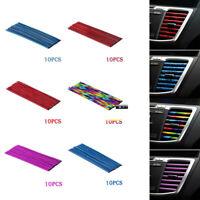 10Pcs Car Accessories Colorful Air Conditioner Air Outlet Decor Strip Universal