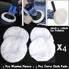 4pcs Car Wool Polishing Bonnet Buffer Pad For 9inch &10inch Car Polisher Care