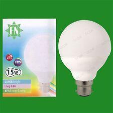 4x 15 W (= 100 W) LED G95 Arredamento Globe 6500K Luce Giorno Bianca BC B22 Lampadina Lampada