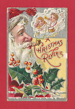 Santa Claus Pipe Dream Smoke Children Playing With Toys Christmas Postcard 1908