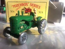 "Matchbox "" A MOKO LESNEY "" mit Original Verpackung Nr.4 Traktor Massey Harris"