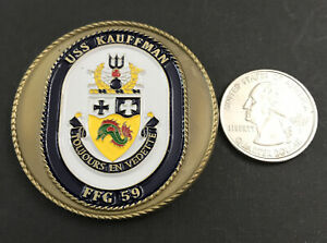 USS KAUFFMAN - FFG 59 MILITARY CHALLENGE COIN
