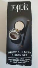 TOPPIK Brow Building Fibers Set Medium Brown for Eyebrow, New/Top seller 1.2 g