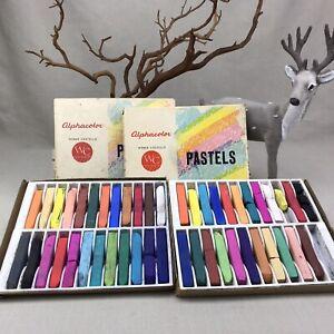 2 Sets Weber Costello Alphacolor Vintage Pastels Sets of 24 Sticks