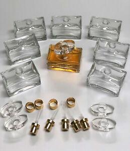 96 x Italienische Parfum Flakons – Rechteckige Glasflasche  50ml – inkl. Zubehör