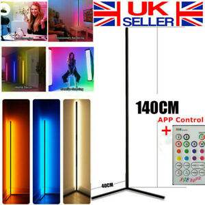 "55"" Corner Floor Lamp Modern Color Remote Minimalist LED Corner Standing Light"