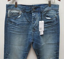 Calvin Klein Taper Men Jeans 30 W x 32 Aged Relaxed Fit Tapered Leg New with Tag