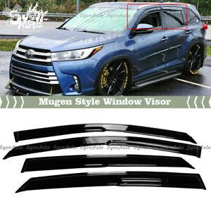FITS 2014-2019 TOYOTA HIGHLANDER JDM 3D MUGEN STYLE WINDOW VISOR RAIN GUARD VENT