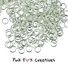 50pcs 8mm SILVER PLATED Jump Rings Metal Jewellery Finding Craft Necklace 0.7mm
