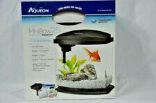 "Aqueon LED MiniBow 2.5 Gallon Desktop Kit Aquarium 11.5"" x 12.5"" x 7.63"" Display"