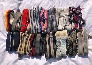 Joblot Vintage 18 Braces Suspenders Lot Reseller Wholesale Mixed Colours Styles