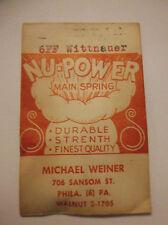 NOS Watch Mainspring 6FF Wittnauer Nu-Power Lot 23