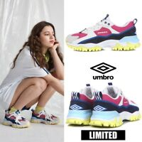 UMBRO BUMPY Ugly Athletic Sneaker Dad Shoes Pink Yellow Sz 220-290mm