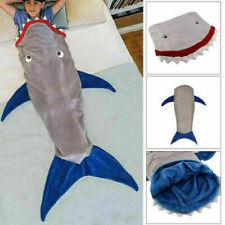 """56"""" Shark Mermaid Tail Fleece Blanket Soft Snuggle-in Sleeping Bag Costume KIDS"""