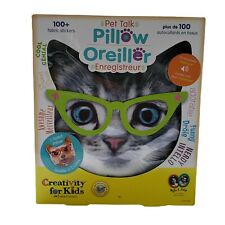 Pet Talk Pillow Creativity for Kids Faber Castell Cat Dog Record Adorable Funny