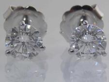 PLATINUM 3.50CTW ROUND BRILLIANT DIAMOND SOLITAIRE MARTINI STYLE STUD EARRINGS