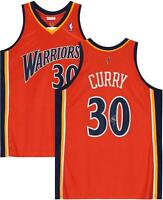 Stephen Curry Warriors Signed Orange 2009-10 Hardwood Classic Authentic Jersey