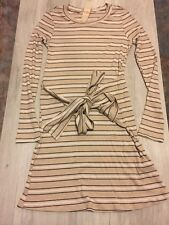 GB New Taupe/striped Junior's  Small Long Sleeve Dress 2 Available Fall Knit