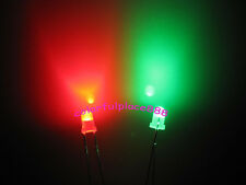 50pcs, 3mm Dual Bi Color Polar Changing Red/Green Led Diffused Leds + Resistors